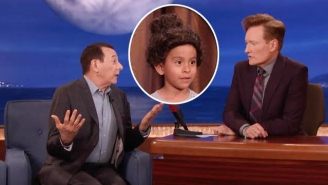Paul Reubens Reveals His Latest 'Pee Wee' Inspired Venture On 'Conan' With Wigs For Kids