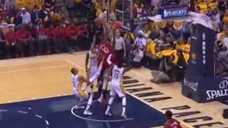 DeMar DeRozan Climbed The Back Of Myles Turner For This Crazy Put-Back Dunk