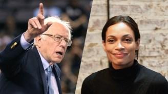 Bernie Sanders Doesn't Condemn Rosario Dawson's Monica Lewinsky Reference