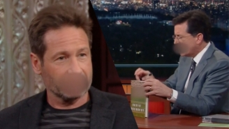 David Duchovny And Stephen Colbert Needed An Absurd Amount Of Bleeps To Get Through This Interview