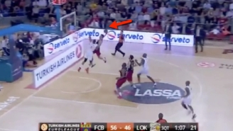 Former NBA Player Anthony Randolph Got Slammed On So Hard In Euroleague