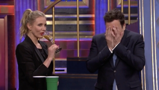 Cameron Diaz And Jimmy Fallon Drank Down Sickening Shots Courtesy Of 'Drinko' On 'The Tonight Show'