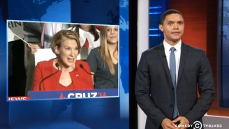 'The Daily Show' Hilariously Mocked Carly Fiorina's Terrifying Singing At The Ted Cruz Rally