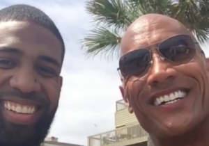 The Rock Sent Arian Foster's Mom A Video Message, And Her Reaction Was Adorable