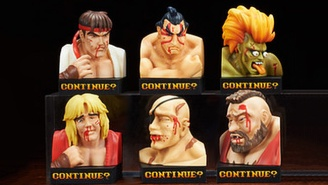 The Pummeled Faces From 'Street Fighter II' Are Being Sold As Amazing Collectible Statues
