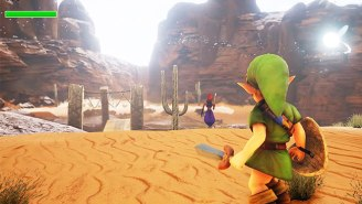 Check Out This Amazing Recreation Of The 'Ocarina Of Time' Gerudo Valley In Unreal 4