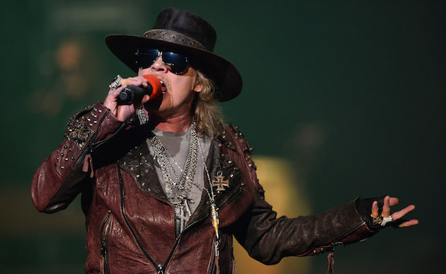 """of Guns N' Roses performs at The Joint inside the Hard Rock Hotel & Casino during the opening night of the band's second residency, """"Guns N' Roses - An Evening of Destruction. No Trickery!"""" on May 22, 2014 in Las Vegas, Nevada."""