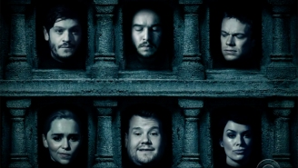 The Hall of Faces gets an annoying new resident in James Corden's 'Game of Thrones' tribute