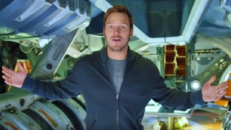 Chris Pratt Shows Off Part Of The 'Guardians Of The Galaxy Vol. 2' Set While Cracking Jokes