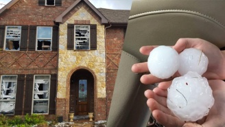 These Insane Images Of Softball-Sized Hail Prove Everything Is Bigger In Texas