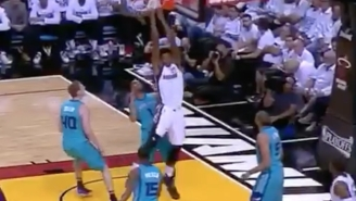 Hassan Whiteside's Feet Were Almost Touching The Floor When He Finished This Lob With A Reverse Dunk