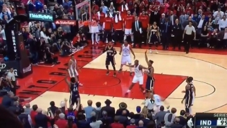 The Raptors Won When Solomon Hill's Game-Tying Three Left His Hands Just After The Final Buzzer Sounded