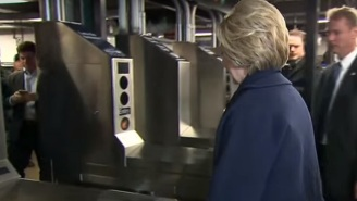 Hillary Clinton Trying (And Failing) To Ride The New York City Subway Is All Of Us