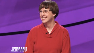The Internet Is Obsessed With This Librarian 'Jeopardy!' Contestant Who Loves To Knit And Pet Cats
