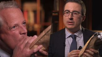 John Oliver And Congressman Steve Israel Toast Congressional Fundraising With A Bag Of Wine