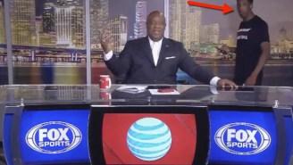 Watch Heat Rookie Josh Richardson Unwittingly Walk Into A Post-Game Live Shot