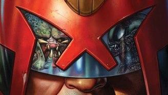 Judge Dredd Will Take On Aliens And Predators In An Upcoming Comic Crossover Showdown