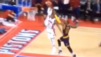 Kentavious Caldwell-Pope Was Too Fast For LeBron James On This Soaring Fast-Break Jam