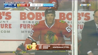 Andrew Shaw Flipped The Double-Bird And Shouted A Gay Slur At A Referee