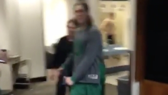 Kelly Olynyk Led The Celtics In Some Locker-Room Dancing After They Beat The Warriors