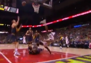 Kent Bazemore Took One Of The Most Disturbing Falls You'll Ever See But Somehow Avoided Injury