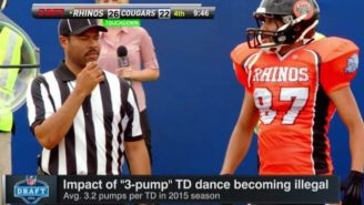 Hingle McCringleberry Is Back And Pumping Himself Up For The NFL Draft