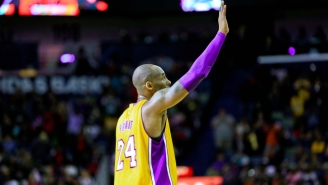 The Lakers Will Honor Kobe Bryant At His Last Game With Both Of His Numbers Painted On The Court