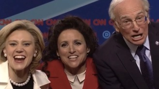 Julia Louis Dreyfus And Larry David Held A 'Seinfeld' Reunion On 'SNL'
