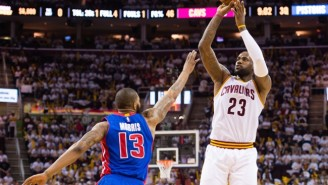 The Pistons Are Already Calling Out LeBron James For Uncalled Offensive Fouls