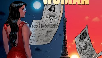 EXCLUSIVE: Diana looks devilishly good in a red dress for LEGEND OF WONDER WOMAN