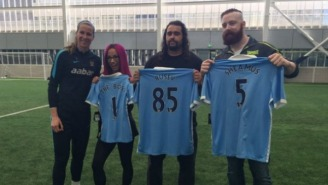 WWE's Sheamus, Rusev, And Sasha Banks Took A Visit To Manchester City's Practice Facility