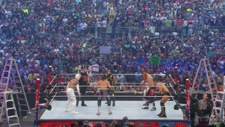 Check Out The Shocking End To WrestleMania's Intercontinental Championship Ladder Match
