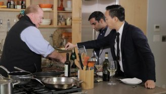 Mario Batali Cooks A Fantastic-Looking Three-Course Meal For Aziz Ansari And Alan Yang