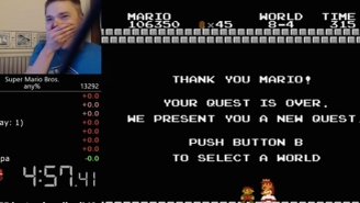 This 'Super Mario Bros.' Speed-Run Record Attempt Comes To A Nailbiting Finish