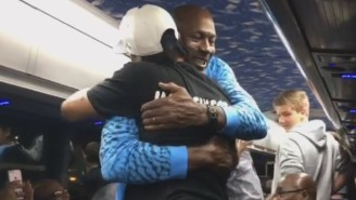 How Awesome Is This Video Of Michael Jordan Congratulating Allen Iverson?