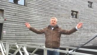 A Carpenter Created A Replica Of Noah's Ark To Sail Across The Atlantic This Summer