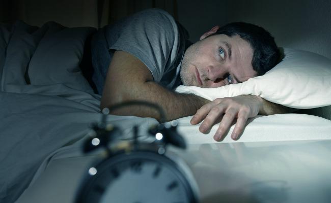 not sleeping man