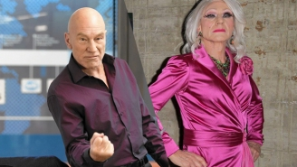 Patrick Stewart Is Almost Unrecognizable While Going In Drag To Promote 'Blunt Talk'