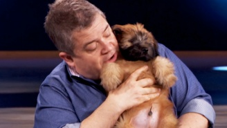 Who Wants To See Patton Oswalt Sing A Song About 'Butt Stuff' To An Adorable Puppy?