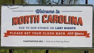 This Billboard Protesting North Carolina's 'Bathroom Bill' Is Pretty Spot On