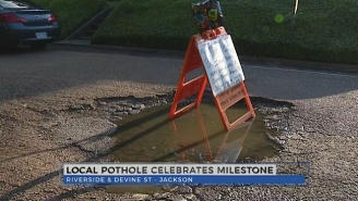 Someone In Mississippi Threw A Birthday Party For A Pothole