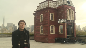 'Psycho' house scares up a spot on NY museum's roof