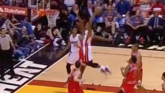 Josh Richardson Was Definitely Trying To Tear Off The Rim With This Two-Handed Dunk
