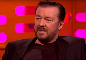 Ricky Gervais Talks The Sadness Of David Brent And Rubbing A Wolf's Belly