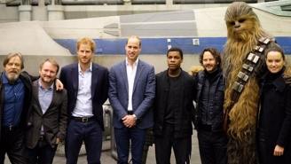 The Cast Of 'Star Wars: Episode VII' Got A Royal Visit That Earned Prince Harry A Big Chewbacca Hug
