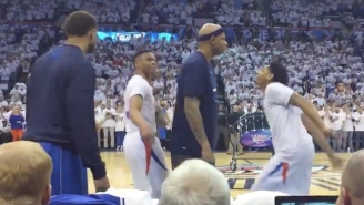 The Mavs Learned Why Opponents Should Never Get In The Way Of Russell Westbrook's Pre-Game Dance