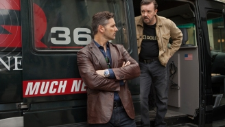 Fake Terrorists Fake Kidnap Ricky Gervais In A New Trailer For Netflix's Very Real 'Special Correspondents' Trailer