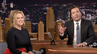 Amy Schumer And Jimmy Fallon Get Weird Explaining The Pictures On Their Phones
