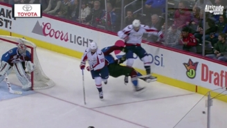 Tom Wilson Absolutely Leveled An Avalanche Player With One Of The Biggest Hits This Season