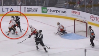 Milan Lucic Set Up A Goal With This Amazing Spin-O-Rama Pass Through A Defender's Legs